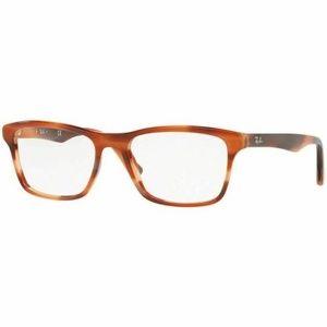 Ray-Ban Square Eyeglasses Pink/Brown W/Demo Lens